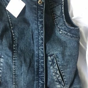 Anthropologie Jackets & Coats - Anthro daughters of the liberation denim fur vest